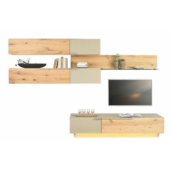 wohnwand in mehrschichtige massivholzplatte. Black Bedroom Furniture Sets. Home Design Ideas