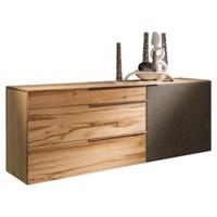 SIDEBOARD in mehrschichtige Massivholzplatte (Tischlerplatte) Altholz, Eiche Anthrazit, Eichefarben (null, image/jpeg)