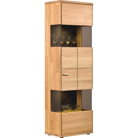 vitrine in massiv eiche vitrinen schr nke beim bel. Black Bedroom Furniture Sets. Home Design Ideas