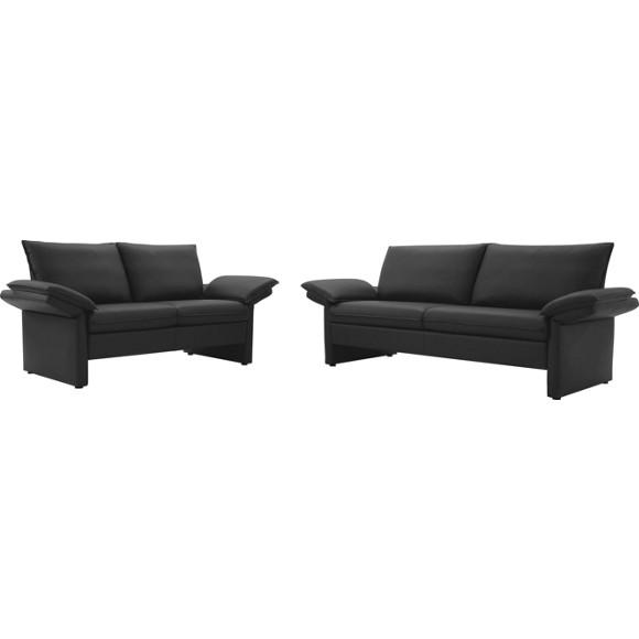 Sitzgarnitur in dunkelbraun leder polsterm bel polsterm bel sofas sessel wohn Lederpflegemittel sofa