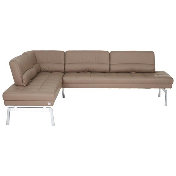 eckbank in leder metall schlammfarben eckb nke b nke. Black Bedroom Furniture Sets. Home Design Ideas