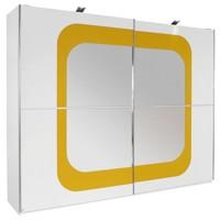 SCHWEBETÜRENSCHRANK in Gelb, Weiß (null, image/jpeg)
