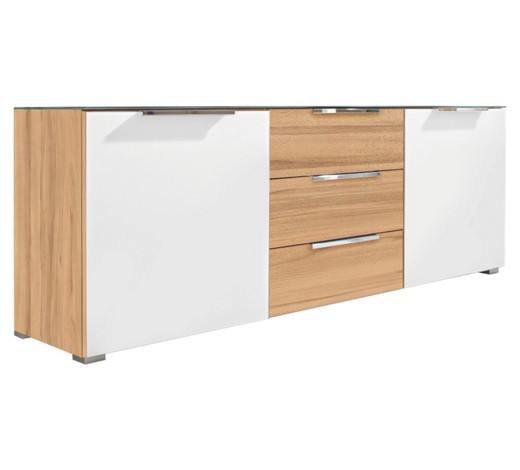 Kommode in kernbuche buchefarben wei sideboards for Schmale kommode 30 cm