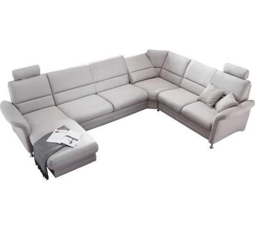 wohnlandschaft grau wohnlandschaften polsterm bel. Black Bedroom Furniture Sets. Home Design Ideas