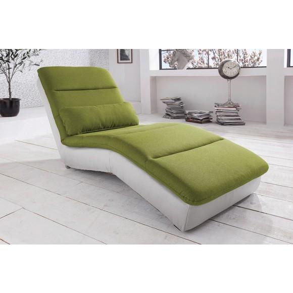 Liege in grün weiß textil liegen polstermöbel