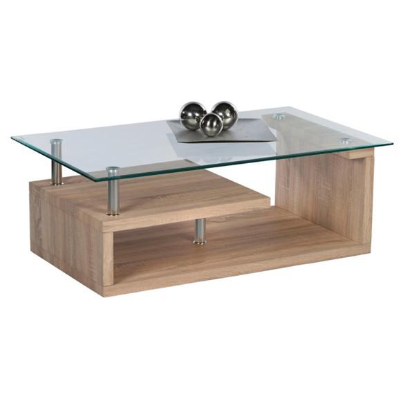 couchtisch retox in glas holzwerkstoff metall sonoma eiche couchtische wohnzimmertische. Black Bedroom Furniture Sets. Home Design Ideas