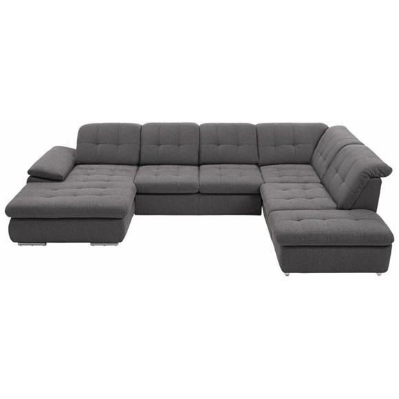 wohnlandschaft in dunkelgrau textil wohnlandschaften. Black Bedroom Furniture Sets. Home Design Ideas
