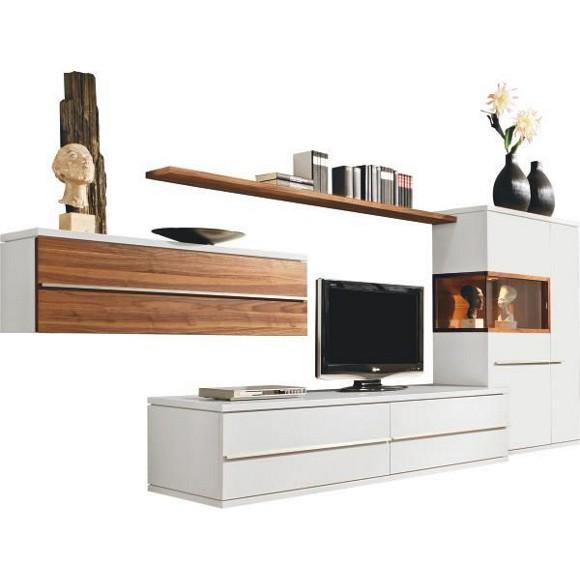 pin details zu wohnwand nussbaum weiss wohnzimmer m bel. Black Bedroom Furniture Sets. Home Design Ideas