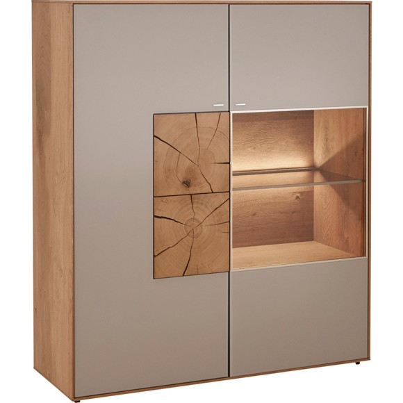 highboard lago in kerneiche in kerneiche eichefarben. Black Bedroom Furniture Sets. Home Design Ideas