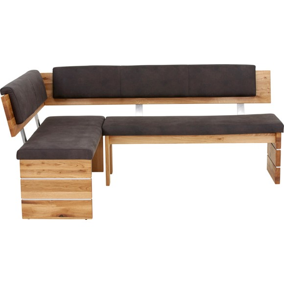 eckbank in holz textil anthrazit eichefarben eckb nke. Black Bedroom Furniture Sets. Home Design Ideas