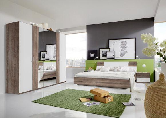schlafzimmer türkis weiß: acherno cleverer mix aus farben und stilen.