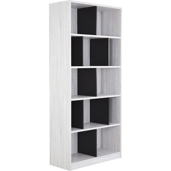 regal in 90 198 38 cm dunkelgrau wei regale wandboards jugendzimmer beim bel kinder. Black Bedroom Furniture Sets. Home Design Ideas
