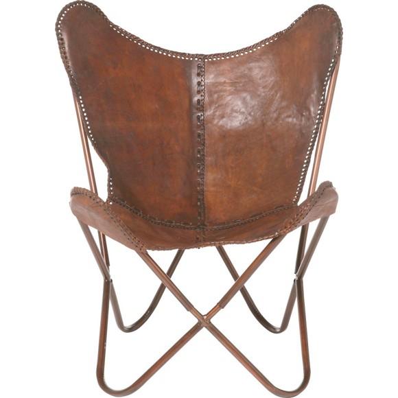 sessel in leder metall braun sessel polsterm bel. Black Bedroom Furniture Sets. Home Design Ideas