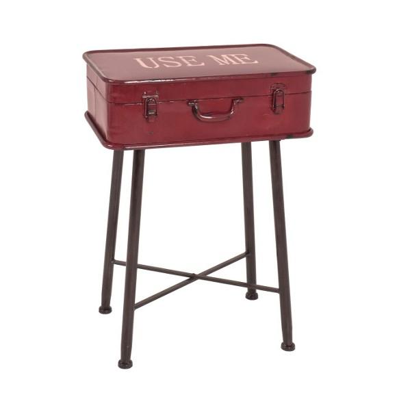 Beistelltisch in 48 67 31 cm rot schwarz couchtische for Beistelltisch esszimmer