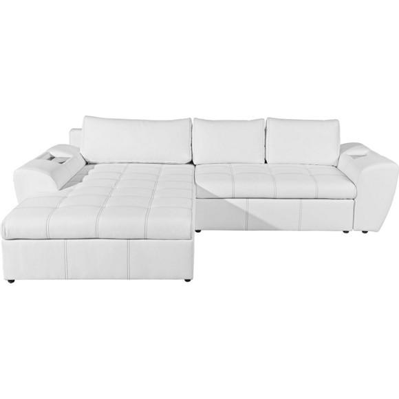 wohnlandschaft in wei textil polsterm bel. Black Bedroom Furniture Sets. Home Design Ideas