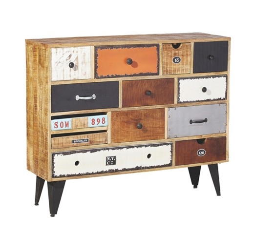 SIDEBOARD in Mangoholz Multicolor - Sideboards - Kommoden & Sideboards ...