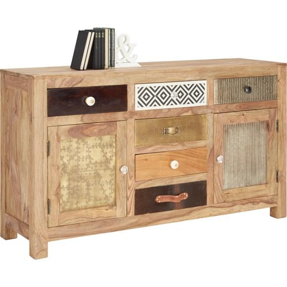 sideboard in sheesham braun multicolor sideboards kommoden wohnzimmer produkte. Black Bedroom Furniture Sets. Home Design Ideas