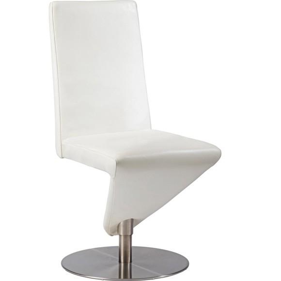 stuhl in leder metall wei st hle esszimmer wohn. Black Bedroom Furniture Sets. Home Design Ideas