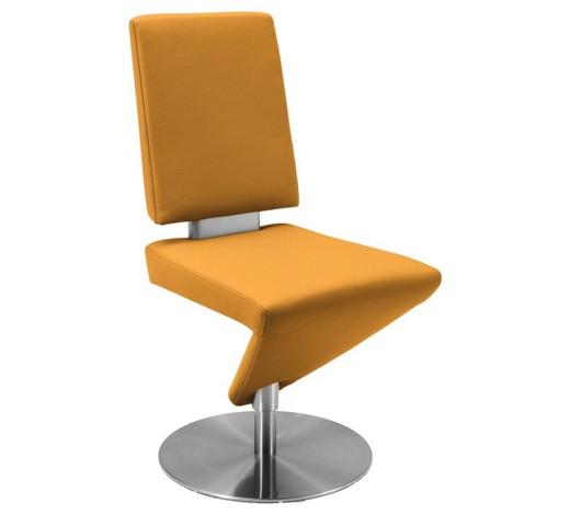 stuhl edelstahl dickleder longlife leder nappaleder gelb. Black Bedroom Furniture Sets. Home Design Ideas