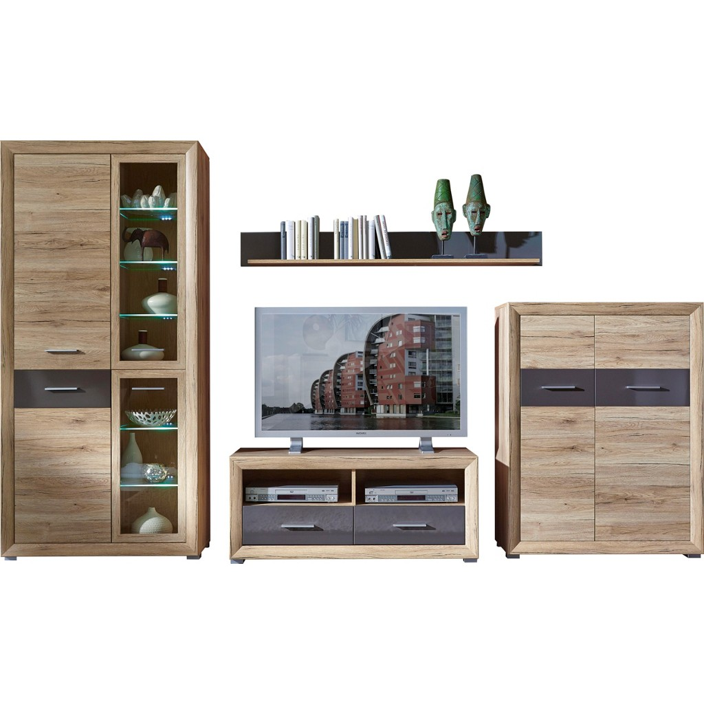 wohnwand braun carryhome art nr 2737016501 wohnwand braun carryhome. Black Bedroom Furniture Sets. Home Design Ideas