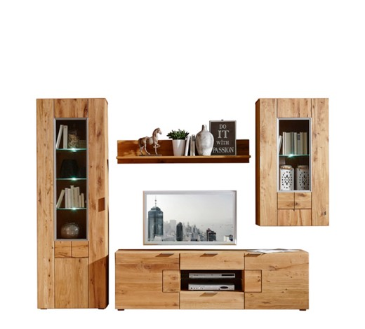 wohnwand balkeneiche eichefarben online kaufen xxxlshop. Black Bedroom Furniture Sets. Home Design Ideas