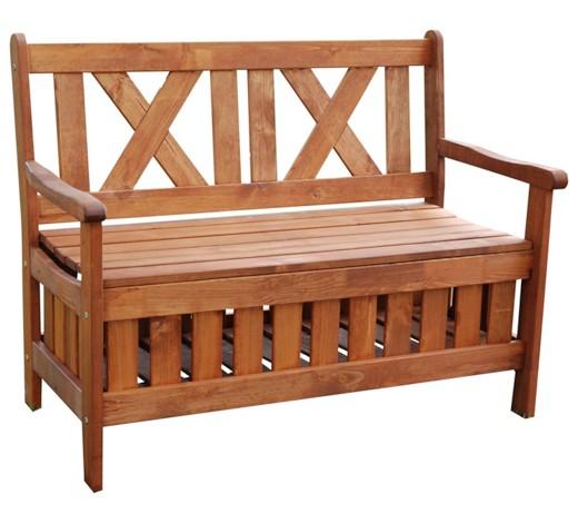 gartenbank mit stauraum kiefer kieferfarben gartenb nke. Black Bedroom Furniture Sets. Home Design Ideas