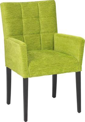 ARMLEHNSTUHL In Holz, Textil Grün, Dunkelbraun Stühle Esszimmer Wohn U0026  U003e Armlehnstuhl  Esszimmer