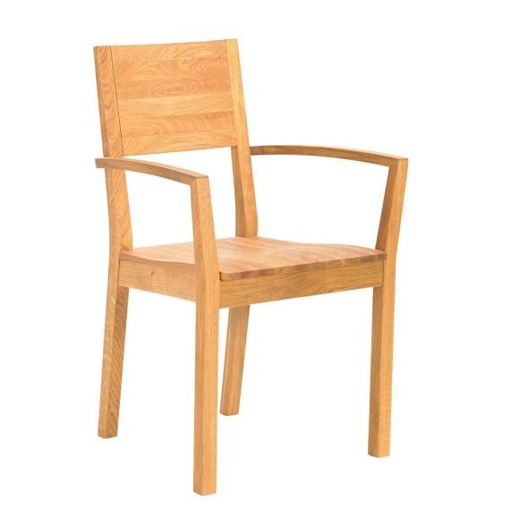 Armlehnstuhl in holz eichefarben st hle esszimmer for Armlehnstuhl holz esszimmer