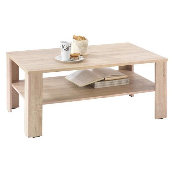 couchtisch in 110 47 65 cm eichefarben couchtische. Black Bedroom Furniture Sets. Home Design Ideas