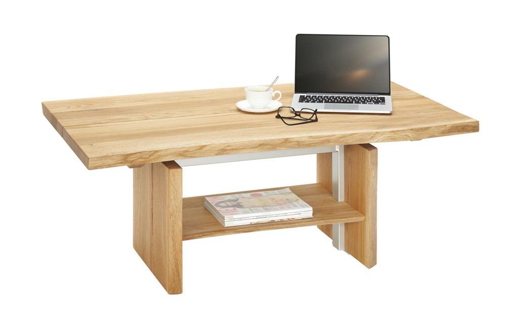 LINEA NATURA Couchtisch Braun 120×48 67×70 cm Holz  520