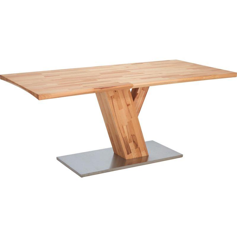 preisvergleich eu edelstahl holz tisch. Black Bedroom Furniture Sets. Home Design Ideas