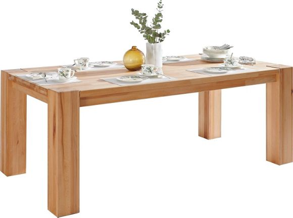 Esstisch aus hochwertigem Holz – massive Buche ~ Esstisch Lutz