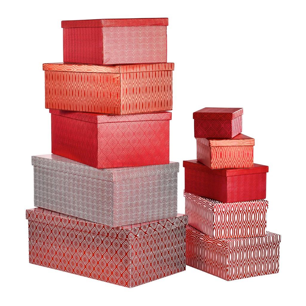 50 sparen geschenkboxen set 10 teilig von xxxl nur 24. Black Bedroom Furniture Sets. Home Design Ideas