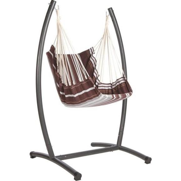 h ngesessel mit robustem stahl gestell. Black Bedroom Furniture Sets. Home Design Ideas