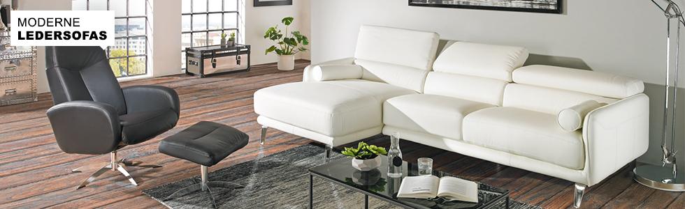 ledersofas online kaufen. Black Bedroom Furniture Sets. Home Design Ideas