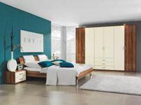 Komplett-Schlafzimmer 4-tlg. in Creme, Nussbaumfarben (null, image/jpeg)