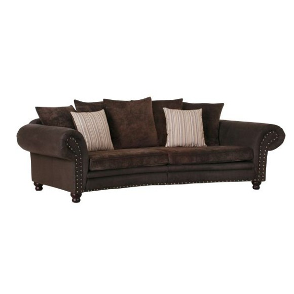 megasofa in dunkelbraun bigsofas polsterm bel wohnzimmer produkte. Black Bedroom Furniture Sets. Home Design Ideas