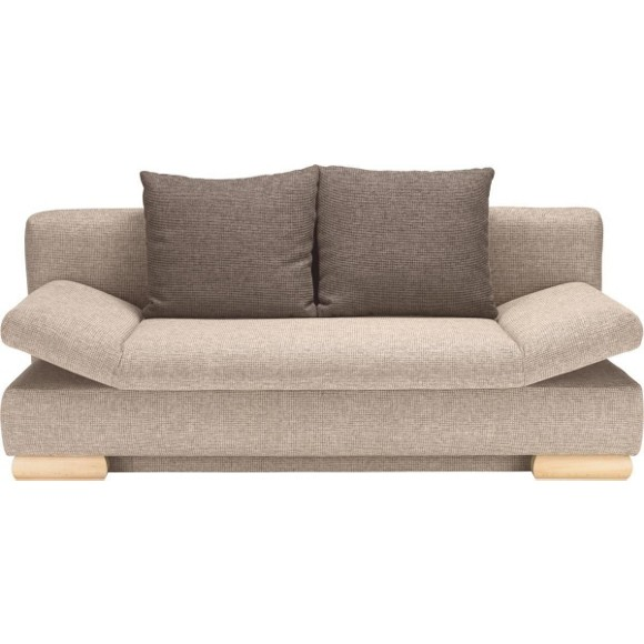 Schlafsofa in beige braun textil jugendsofas kinder for Schlafsofa 2m