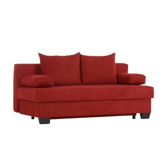 Schlafsofa in rot textil polsterm bel polsterm bel for Schlafsofa xora