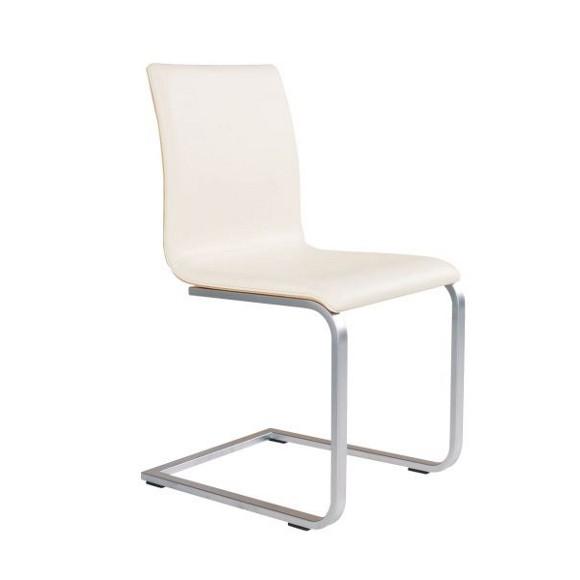 schwingstuhl in holz leder metall buchefarben creme. Black Bedroom Furniture Sets. Home Design Ideas