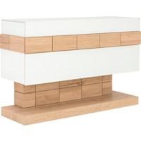 SIDEBOARD in massiv, mehrschichtige Massivholzplatte (Tischlerplatte) Kernbuche Buchefarben, Weiß (null, image/jpeg)