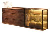 SIDEBOARD in massiv, mehrschichtige Massivholzplatte (Tischlerplatte) Nussbaum Nussbaumfarben (null, image/jpeg)