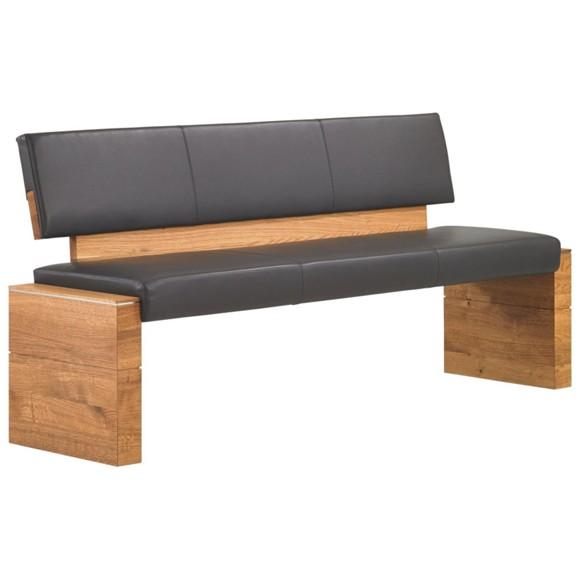 sitzbank in holz leder anthrazit eichefarben b nke esszimmer wohn esszimmer produkte. Black Bedroom Furniture Sets. Home Design Ideas