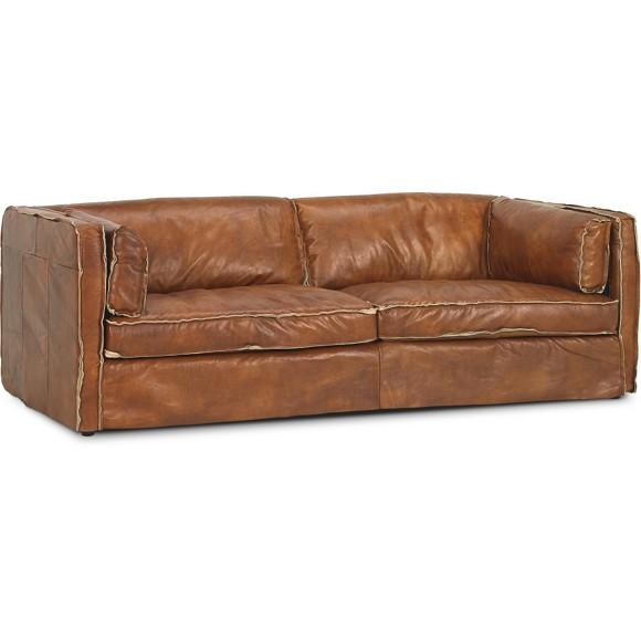sofa in braun holz leder polsterm bel polsterm bel. Black Bedroom Furniture Sets. Home Design Ideas
