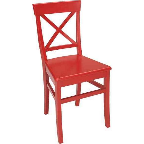 STUHL In Holz Rot Stühle Esszimmer Wohn & Esszimmer