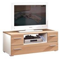 TV-ELEMENT in teilmassiv Buche Buchefarben, Weiß (null, image/jpeg)