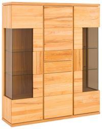 VITRINE in massiv, mehrschichtige Massivholzplatte (Tischlerplatte) Kernbuche Buchefarben (null, image/jpeg)