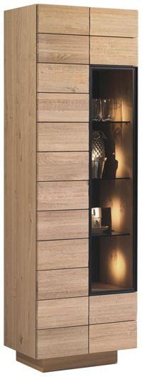 VITRINE in massiv, mehrschichtige Massivholzplatte (Tischlerplatte) Wildeiche Eichefarben (null, image/jpeg)