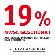 19% MwSt. geschenkt