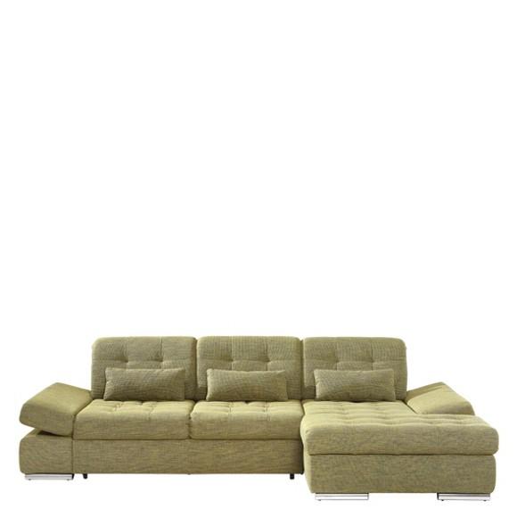 wohnlandschaft in gr n textil polsterm bel. Black Bedroom Furniture Sets. Home Design Ideas